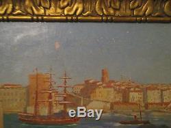 Tableau ancien huile sur toile signé michel vitalta 1871 1942