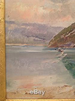 Tableau ancien marine de Pierre Nicolas EULER (1846-1915) huile sur toile signée