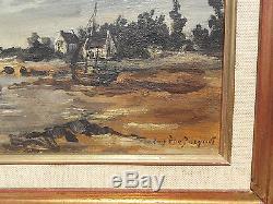 Tableau ancien marine signé Eugene Jacquet
