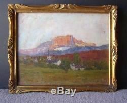 Tableau ancien, mont Granier, Alpes, Savoie, montagnes, Chambery, 1916 fauve