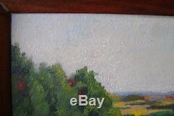 Tableau, ancien, paysage, Louis Amariglio, Montezin