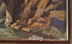Tableau ancien paysage de Corse par Pierre BACH