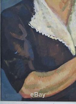 Tableau ancien peinture école moderne femme école de Paris Cadre Montparnasse