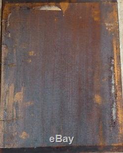 Tableau ancien peinture huile HENNER XIXe répertorié portrait jeune femme rousse
