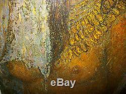 Tableau ancien peinture huile sur toile signé