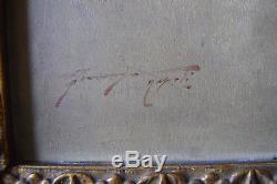 Tableau, ancien, portrait, Naples, Gitane, Forlenza