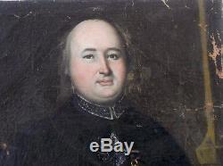 Tableau ancien portrait d'un prélat