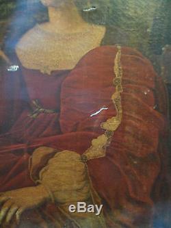 Tableau ancien portrait probablement ecole espagnole 19 eme