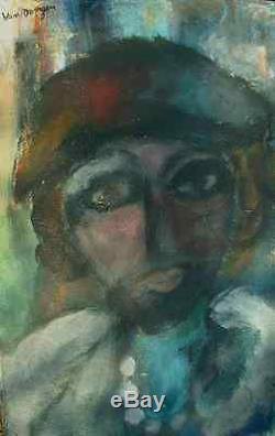 Tableau ancien portrait signé Dongen