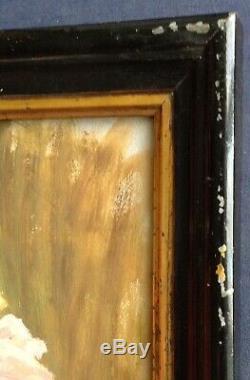 Tableau ancien proche Auguste RENOIR Étude Impressionniste Roses au Vase Huile
