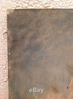 Tableau ancien proche Henri Fantin LATOUR Roses dans un verre Huile sur toile