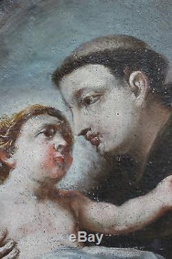 Tableau ancien religieux Saint à l'enfant Anonyme