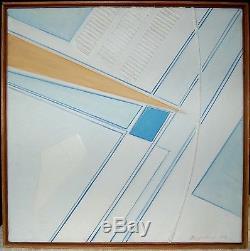 Tableau ancien signé BOZZOLINI abstraction 1984 peintre italien