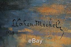 Tableau ancien signé CAHEN-MICHEL Montigny sur Loing Seine et Marne BARBIZON