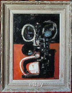 Tableau ancien signé Kÿno composition abstraite huile sur toile