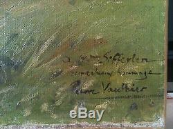 Tableau ancien signé Pierre Vauthier