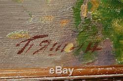 Tableau ancien signé Saint-Petersbourg Ecole RUSSE
