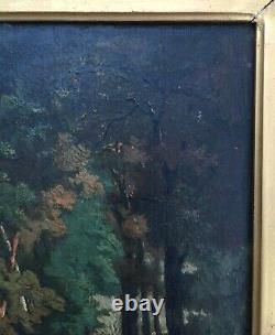 Tableau ancien signé Boyer, Huile sur panneau, Paysans asiatiques, Encadré, XIXe