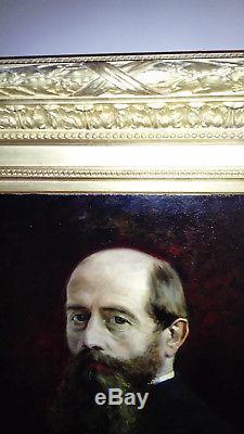 Tableau ancien signé Huile sur toile de LÉON LOUIS ANTOINE TANZI (1846-1913)