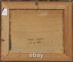 Tableau ancien signé Seguin sur bois Fauvisme vers 1950