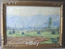 Tableau, ancien, sud ouest, impressionniste, paysage, signé, Lagarrigue, 1927