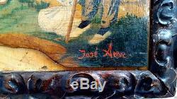 Tableau ancien superbe Fête Basque par José ARRUE Y VALLE (1885-1977)