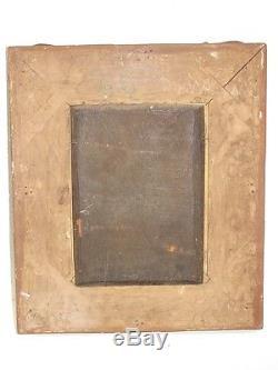 Tableau portrait ancien 1846 signé P canon pinx XIXème siècle Peinture Huile