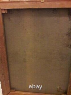 Tableau portrait ancien femme Riche. Huile sur toile. 55,5×73,5. Voir photo