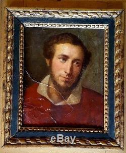 Très ancien tableau portrait