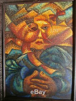 Umberto BOCCIONI (1882-1916) Petit Tableau Ancien Huile FUTURISME CUBISME