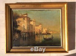 Venise Venezia Tableau Ancien A Restaurer Huile Sur Toile Signee