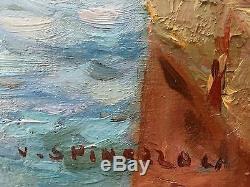 Vincent Spinazzola (XIXe-XXe) Ancien Tableau Peinture Huile Original Painting