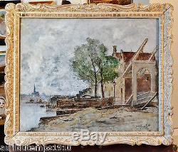 Wilhelm VON GEGERFELT (1844-1920) SUEDE IMPRESSIONNISME XIXe TABLEAU ANCIEN