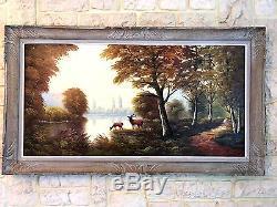 (n°1) ancien tableau peinture, signée, Robert MOGISSE (1933)